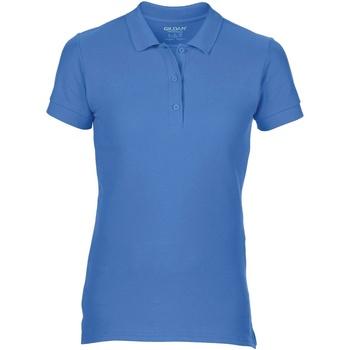textil Dame Polo-t-shirts m. korte ærmer Gildan 85800L Flo Blue