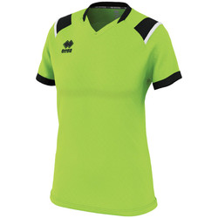 textil Dame T-shirts m. korte ærmer Errea Maillot femme  lenny vert/noir/blanc