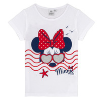 textil Pige T-shirts m. korte ærmer TEAM HEROES MINNIE Hvid