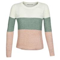 textil Dame Pullovere Only ONLGEENA Beige / Pink