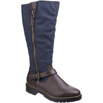 Sko Dame Chikke støvler Divaz  Brown/Blue