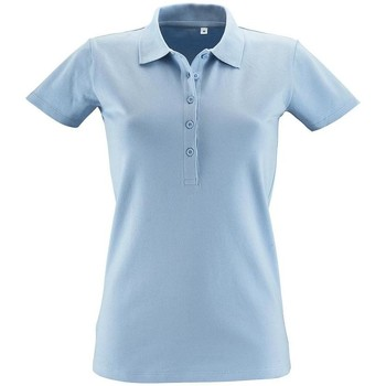 textil Dame Polo-t-shirts m. korte ærmer Sols PHOENIX WOMEN SPORT Azul