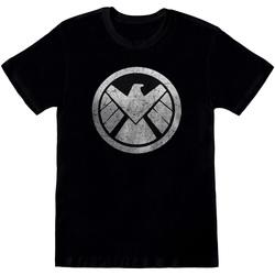 textil Herre T-shirts m. korte ærmer Avengers  Black