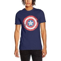 textil T-shirts m. korte ærmer Captain America  Blue