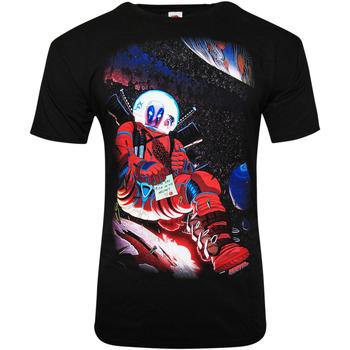 textil T-shirts m. korte ærmer Deadpool  Black