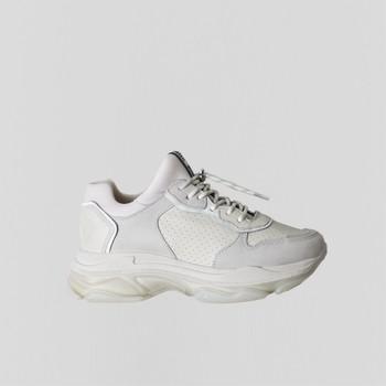 Sko Dame Lave sneakers Bronx Chaussures femme  Baisley Suede blanc cassé