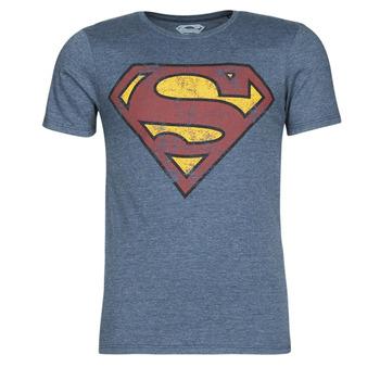 textil Herre T-shirts m. korte ærmer Casual Attitude SUPERMAN LOGO VINTAGE Marineblå
