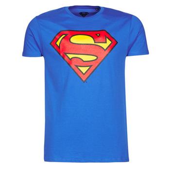 textil Herre T-shirts m. korte ærmer Casual Attitude SUPERMAN LOGO CLASSIC Blå