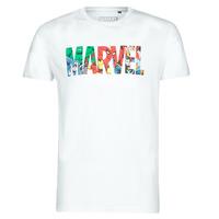 textil Herre T-shirts m. korte ærmer Casual Attitude MARVEL HERO LOGO Hvid