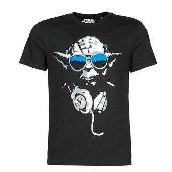 textil Herre T-shirts m. korte ærmer Yurban DJ YODA COOL Sort