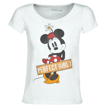textil Dame T-shirts m. korte ærmer Yurban MINNIE PERFECT GIRL Hvid