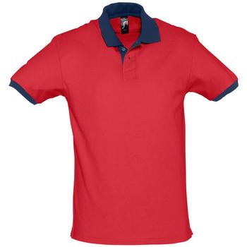 textil Polo-t-shirts m. korte ærmer Sols PRINCE COLORS Rojo