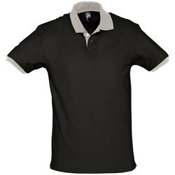 textil Polo-t-shirts m. korte ærmer Sols PRINCE COLORS Negro