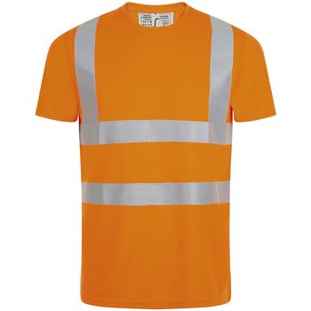 textil Herre T-shirts m. korte ærmer Sols MERCURE PRO VISIBLITY WORK Naranja
