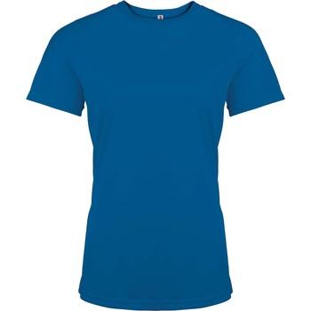 textil Dame T-shirts m. korte ærmer Proact T-Shirt femme manches courtes  Sport bleu marine