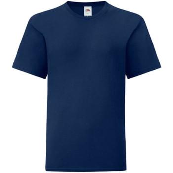 textil Dreng T-shirts m. korte ærmer Fruit Of The Loom 61023 Navy