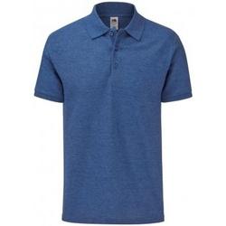 textil Herre Polo-t-shirts m. korte ærmer Fruit Of The Loom SS221 Heather Royal