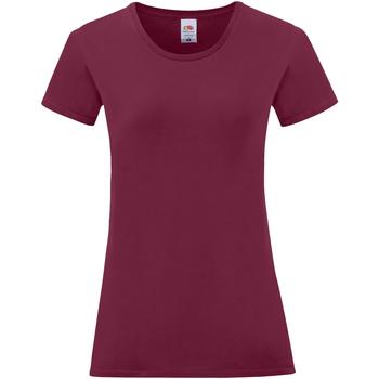 textil Dame T-shirts m. korte ærmer Fruit Of The Loom 61432 Burgundy