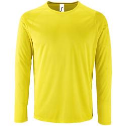 textil Herre Langærmede T-shirts Sols SPORT LSL MEN Amarillo