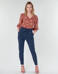textil Dame Lærredsbukser Vero Moda VMEVA Marineblå