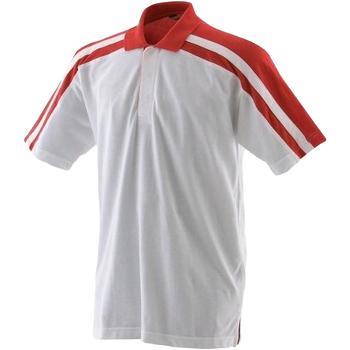 textil Herre Polo-t-shirts m. korte ærmer Finden & Hales LV328 White/Red
