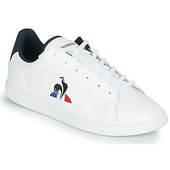 Sko Børn Lave sneakers Le Coq Sportif COURTSET JUNIOR Hvid / Blå