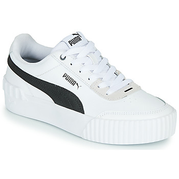 Sko Dame Lave sneakers Puma CARINA LIFT Hvid / Sort / Grå