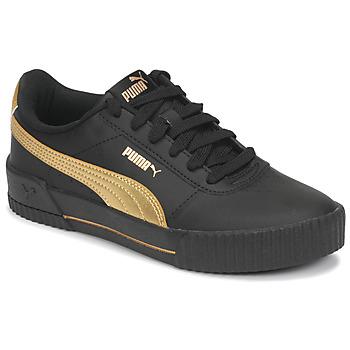 Sko Dame Lave sneakers Puma CARINA Sort / Guld