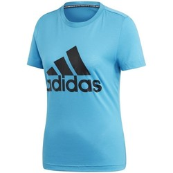 textil Dame T-shirts m. korte ærmer adidas Originals Must Haves Bos Tee Azurblå