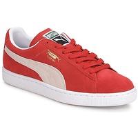 Sko Herre Lave sneakers Puma SUEDE CLASSIC + Rød / Hvid