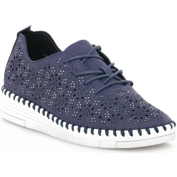 Sko Dame Lave sneakers Grunland BLU F6VIVY Blu