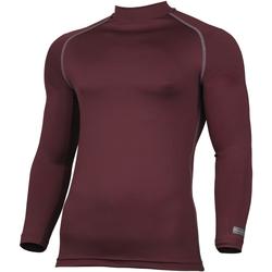 textil Herre Langærmede T-shirts Rhino RH001 Maroon