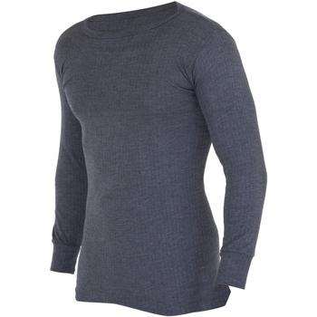 textil Herre Langærmede T-shirts Floso  Charcoal