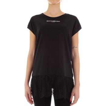 textil Dame T-shirts m. korte ærmer Twinset Mytwin 201MP232A Nero