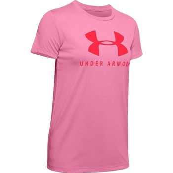 textil Dame T-shirts m. korte ærmer Under Armour Graphic Sportstyle Classic Crew Pink