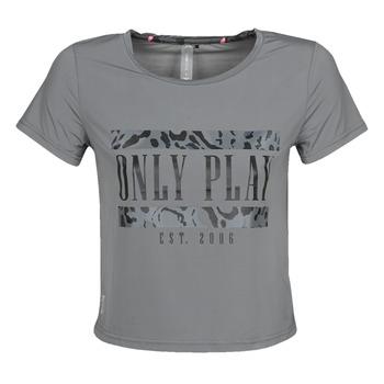 textil Dame T-shirts m. korte ærmer Only Play  Grå