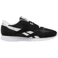 Sko Herre Lave sneakers Reebok Sport CL Nylon Hvid,Sort