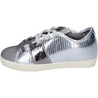 Sko Pige Sneakers Enrico Coveri sneakers tessuto pelle sintetica Argento