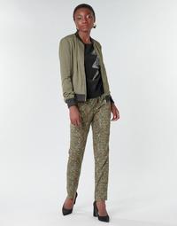 textil Dame Løstsiddende bukser / Haremsbukser Ikks BR22005 Kaki