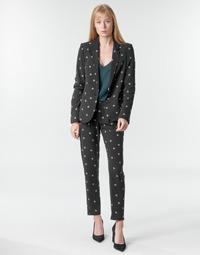 textil Dame Løstsiddende bukser / Haremsbukser Ikks BR22125 Sort