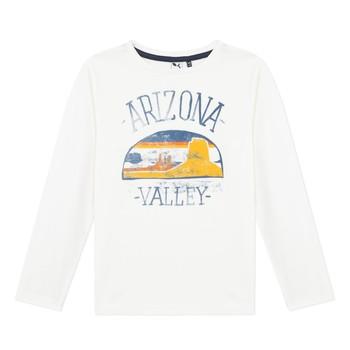 textil Dreng Langærmede T-shirts 3 Pommes 3R10005-19-C Hvid