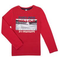 textil Dreng Langærmede T-shirts 3 Pommes 3R10015-37-C Rød