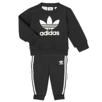 textil Børn Sæt adidas Originals CREW SET Sort