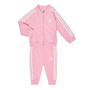 textil Pige Sæt adidas Originals SST TRACKSUIT Pink