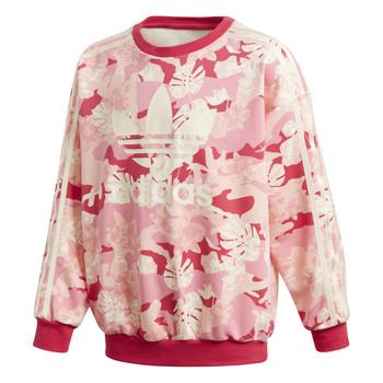 textil Pige Sweatshirts adidas Originals CREW Pink