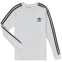 textil Dreng Langærmede T-shirts adidas Originals 3STRIPES LS Hvid