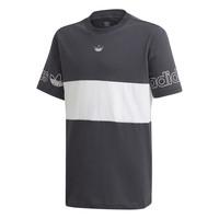 textil Dreng T-shirts m. korte ærmer adidas Originals PANEL TEE Grå / Hvid
