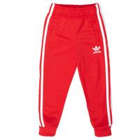 textil Børn Træningsbukser adidas Originals SST TRACKPANT Rød