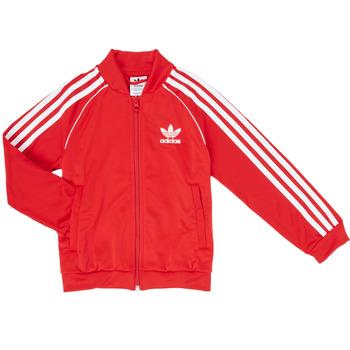 textil Dreng Sportsjakker adidas Originals SST TRACKTOP Rød
