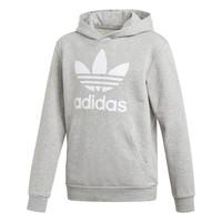 textil Dreng Sweatshirts adidas Originals TREFOIL HOODIE Grå